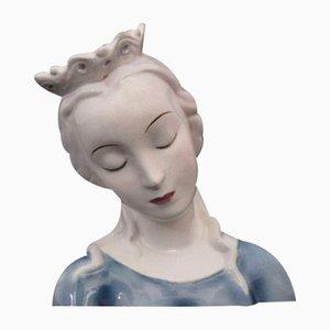 Ceramic Bust of Madonna from Goldscheider, 1940s