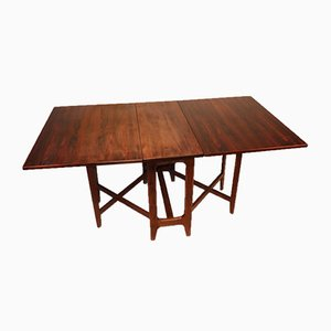 Scandinavian Extendable Rosewood Dining Table by Bendt Winge for Kleppes Mobelfabrik, 1960s