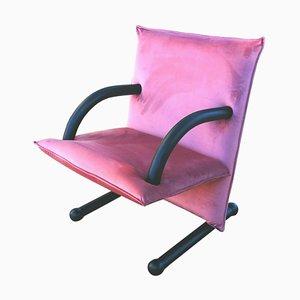 Pinker T-Line Sessel von Burkhard Vogtherr für Arflex, 1980er
