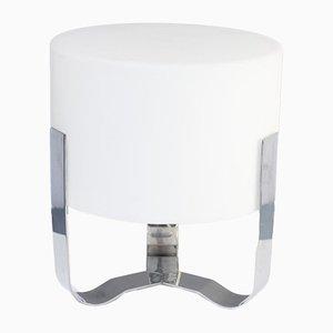 Lampada da tavolo in metallo cromato e opalino di Sompex, inizio XXI secolo