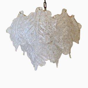 Lampada a sospensione in vetro di Murano di Mazzega, anni '70