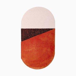 Medium RG Orange/Brown Oci Rug by Seraina Lareida for Portego