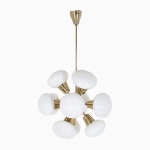 Brass 12-Light Sputnik Chandelier, 1970s