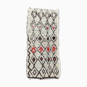 Vintage Beni Ouarain Berber Wool Carpet