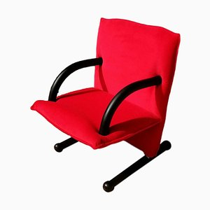 T-Line Red Lounge Chair by Burkhard Vogtherr for Arflex, 1980s