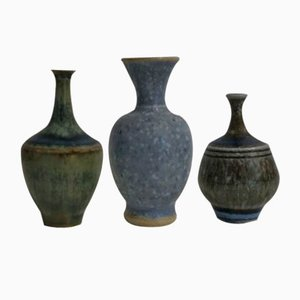 Mid-Century Vases from Höganas, Set of 3