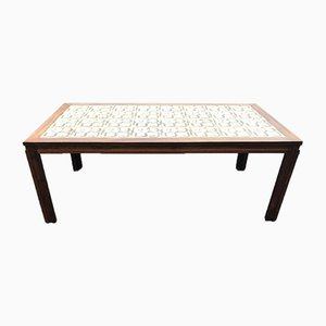 Rosewood Coffee Table with Royal Copenhagen Tiles, 1960s