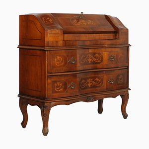 Walnut Inlaid Secretaire from Bovolone, 1920s