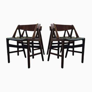 Mid-Century Teak Dining Chairs by Henning Kjærnulf, 1960s, Set of 4