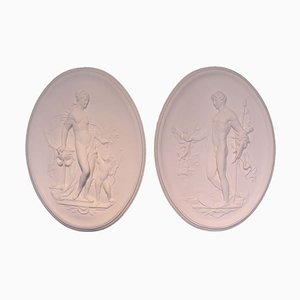 Vintage Reliefs with Aphrodite & Adonis, 1970s, Set of 2