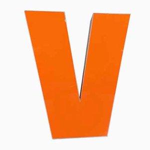 Vintage Plexiglas Letter V Sign