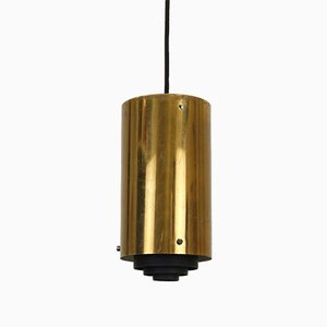 French Brass Ceiling Lamp, 1960s