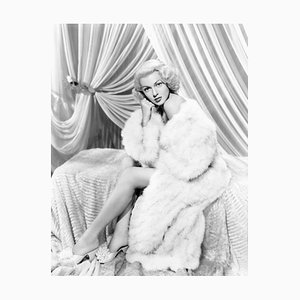 Lana Turner Archival Pigment Print Framed in White by Everett Collection