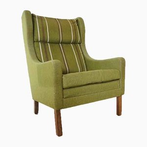 Mid-Century Rosewood Upholstered Wingback Easychair