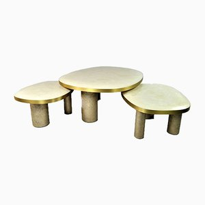 Coffee Tables by François-Xavier Turrou for Ginger Brown, Set of 3