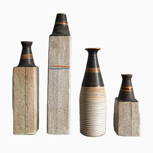 Ceramic Vases by Ivo Sassi, 1950s, Set of 4