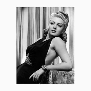 Uber Glamorous Lana Turner Archival Pigment Print Framed in White by Everett Collection