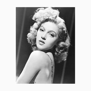 Lana Turner in Dancing Co-Ed Archival Pigment Print Framed in White by Everett Collection