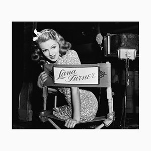 Lana Turner on Set Archival Pigment Print Framed in Black by Everett Collection