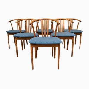 Vintage Danish Oak Dining Chairs in the Style of Hans J. Wegner, Set of 6