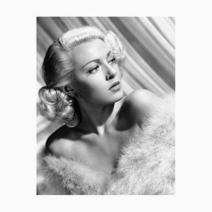 Lana Turner Archival Pigment Print Framed in White