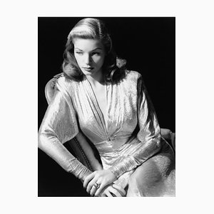 Lauren Bacall Archival Pigment Print Framed in White