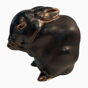 Hasen aus Keramik von Jeanne Grut für Royal Copenhagen