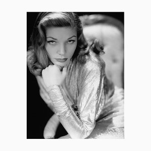 Lauren Bacall Archival Pigment Print Framed in Black