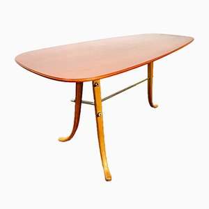 Mid-Century Danish Coffee Table with Red Top, 1960s