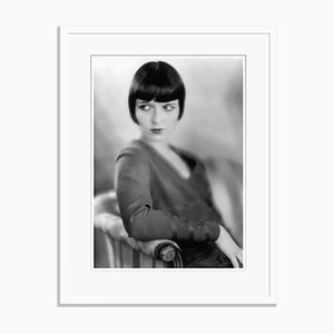 Louise Brooks Archival Pigment Print Framed in White