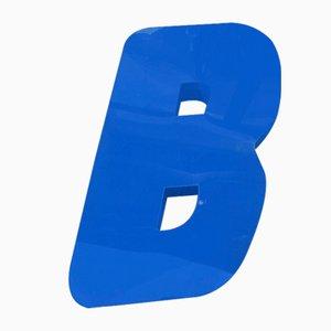 Vintage Plexiglas Letter B Sign