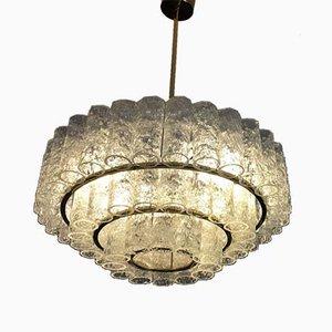 Lampada da soffitto tubolare in vetro di Doria Leuchten, anni '60