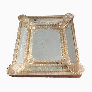 Specchio veneziano in vetro di Murano, anni '40