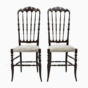 High Back Chiavari Dining Chairs by Gaetano Descalzi, 1950s, Set of 2