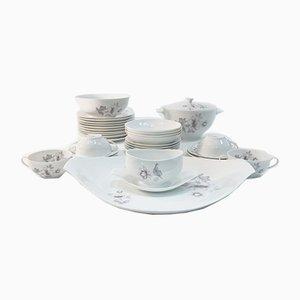 White Porcelain Tableware Set from Bidasoa, 1960s, Set of 27