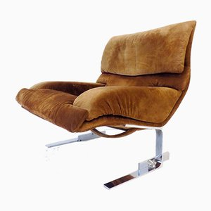 Italian Lounge Chair by Giovanni Offredi for Saporiti Italia, 1970s