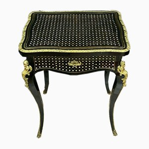 Inlaid Brass Dressing Table