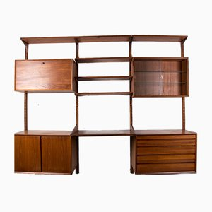 Large Modular Danish Teak Wall Unit by Poul Cadovius for Cado, 1960s