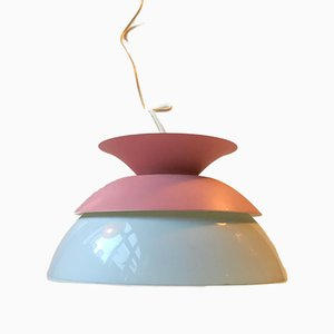 Vintage Pink Pendant Lamp from Nordisk Solar, 1980s