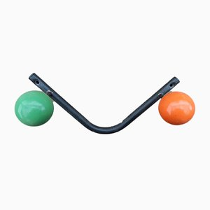 Coat Rack With 3 Painted Wooden Balls On Metal Structure, 1950s