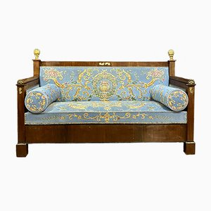 Empire Mahogany, Bronze & Gilded Wood Daybed