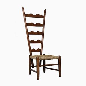 Italian Vienna Straw & Walnut Chair by Gio Ponti for Casa e Giardino, 1939