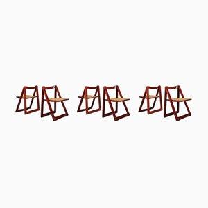 Chaises Pliables par Pierangela D'Aniello, Aldo Jacober pour Bazzani, 1966, Set de 6
