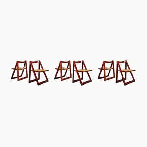 Folding Chairs by Pierangela D'Aniello, Aldo Jacober for Bazzani, 1966, Set of 6