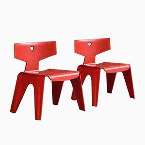 Chaises pour Enfant par Charles & Ray Eames pour Vitra, 2004, Set de 2