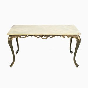 Vintage Brass and Marble Coffee Table, 1950s