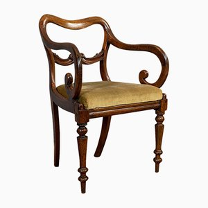 Antique English Scroll Armchair