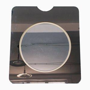 Specchio da parete vintage fumé, anni '70