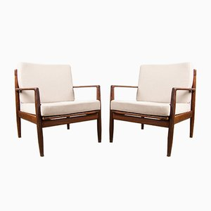 Danish Teak Armchairs by Ib Kofod Larsen, 1960s, Set of 2