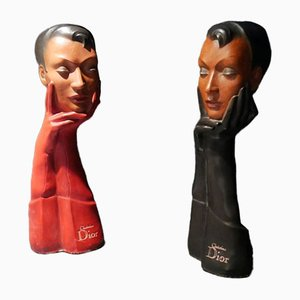 Advertising Busts from Christian Dior, 1953, Set of 2